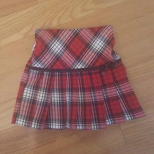 Girl Size 3T OshKosh Red and Black Plaid Skirt